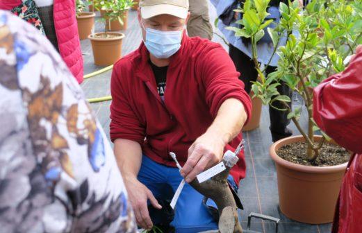 Patrick Dubacher, jardinier aux CJBG
